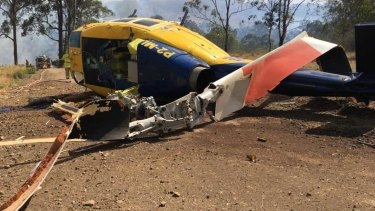 The crash of a water-bombing helicopter near Toowoomba.