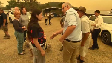 The Prime Minister received a cold response from residents of fire-devastated Cobargo in NSW.