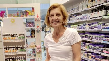 Dr Vicky Kritikos at a pharmacy in Jervis Bay where she is offering free asthma assessments to the community.