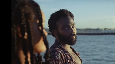 The real-life Guava Island: Rihanna and Donald Glover (aka Childish Gambino) in a scene from Guava Island.