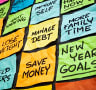 New Year's resolutions and actions
