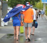 It was a cool, wet day at the Australian Open on Monday, but by no means a record.