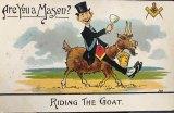 Postcard produced to mock freemasonry.