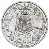 Stuart Devlin's early drawing of the original 50 cent piece.
