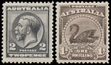 The Arthur Gray Collection of King George V stamps.