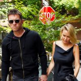 Glower power ... The notoriously private couple seen together in New York in September 2014.