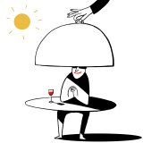 Dining out is still one of the most uplifting ways of spending your money. Illustration: Simon Letch