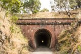 A tunnel on the Great Victorian Rail Trail.