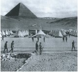 Tents at the pyramids before the battle.