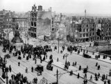 Damage in Dublin caused by the 1916 Easter Rising.