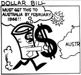 Ad for the new $1 note from 1966.