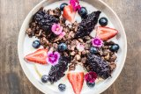 Like a lamington: Cacao and puffed quinoa granola.