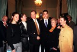 Paul Keating in 1999 with (from left) daughters Alexandra and Katherine, son Patrick, mother Min and sister Anne.