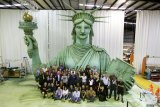 The company created a puppet version of the Statue of the Liberty for the Rockettes' New York Spectacular.