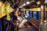 The Q Train offers a luxurious four-hour, slow lunch or dinner on board refurbished rail dining cars travelling between Drysdale and Queenscliff.