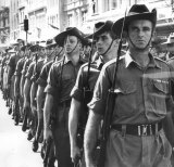 The 7th Battalion R.A.R marching through Sydney on their return from the war in Vietnam.