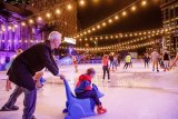 Skating At Festival transforms Southbank into a winter wonderland ice-skating experience, with a rink popping up on the Crown Riverwalk.