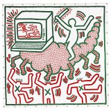 Keith Haring, Untitled 1983, vinyl paint on vinyl tarpaulin 307.0 x 302.0 cm, Private collection.