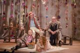 Bell Shakespeare's As You LIke It,. (Clockwise from top left) Alan Dukes, John Bell, Emily Eskell and George Banders.  The Canberra Times  Photo Jamila Toderas