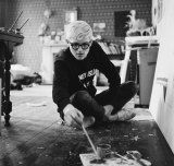 David Hockney working in the studio, circa 1967.