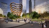 The proposed Public Square and Gardens at Hudson Yards. Artist's impression by Visual House-Nelson Byrd Woltz.