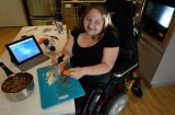 Bree Synot in her disability-friendly home in Abbotsford, Melbourne.