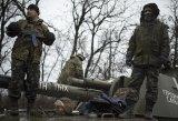 Ukrainian servicemen on the outskirts of Donetsk, in Ukraine, on Wednesday.