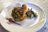 Adam Garcia's John Dory with potato, tomato, clams, green olive dish at Bellota.