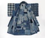 A Japanese rag kimono of the Meiji period 1868-1912.
