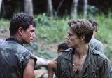 With Tom Berenger in Oliver Stone's Platoon, for which Dafoe would be Oscar-nominated.