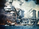 The Japanese attack on Pearl Habour in 1941. A year earlier, Australia was still courting Japan as a trading partner.