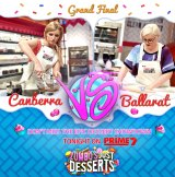 Canberra's Ali King and Ballarat's Kate Ferguson squared off in the grand final of Zumbo's Just Desserts on Tuesday night. For private capital