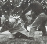 State troopers used clubs against civil rights campaigners in Selma, Alabama, 1965.