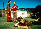 Crowded house in 1996, Mark Hart, Nick Seymour and Neil Finn.