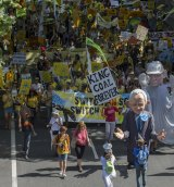 Thousands joined the climate change rally in Sydney on Sunday.