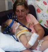Angela Brown won't know for seven years whether her daughter Summer-Rose will fully recover from the severe whiplash that caused the young girl's neck to break in three places.