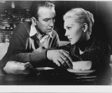 James Stewart and Kim Novak in Alfred Hitchcock's <I>Vertigo</I>.