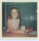 Eleven-year-old Susan in 1969, with the diary in which she wrote of her love at first sight.