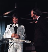 David Cassidy with host Bert Newton at the TV Week Logie Awards.