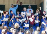 Students at Stuarts Point Public School who graduated as Dhalayi doctors this week.