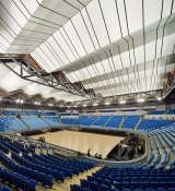 Wi-Fi antennas that beam web access to every ticket holder are built into the roof of the Margaret Court arena.