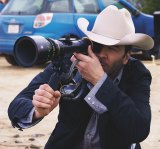 Writer/director Tom Ford on the set of <i>Nocturnal Animals</i>.