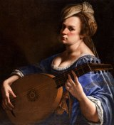 <i>Self-Portrait as a Lute Player</i> by Artemisia Gentileschi, between 1615 and 1617. This work fetched more than $US3 million at auction in New York in 2014.