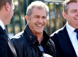At Fox Studios in July ... Mel Gibson speaks about shooting <i>Hacksaw Ridge</i> at a press conference.