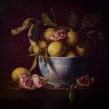 """Lemon Lucina"" by Gatya Kelly; oil on linen, 122cm x 122cm $10,000."