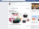 """The more Louise Kelly searched online for branded bags, the more ads (featuring fake ones) appeared on her Facebook page and other sites, including this """"suggested post""""."""