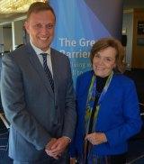World Science Festival Brisbane 2016. Marine biologist Sylvia Earle meets Environment Minister Steven Miles.