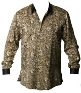 """A shirt that was custom-made for Nelson Mandela, known as a """"Madiba shirt""""."""