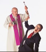 John Safran and Father Bob Maguire from the SBS TV series <i>Speaking in Tongues</i>.