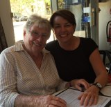 Anna Bligh with her mother, Frances Tancred.